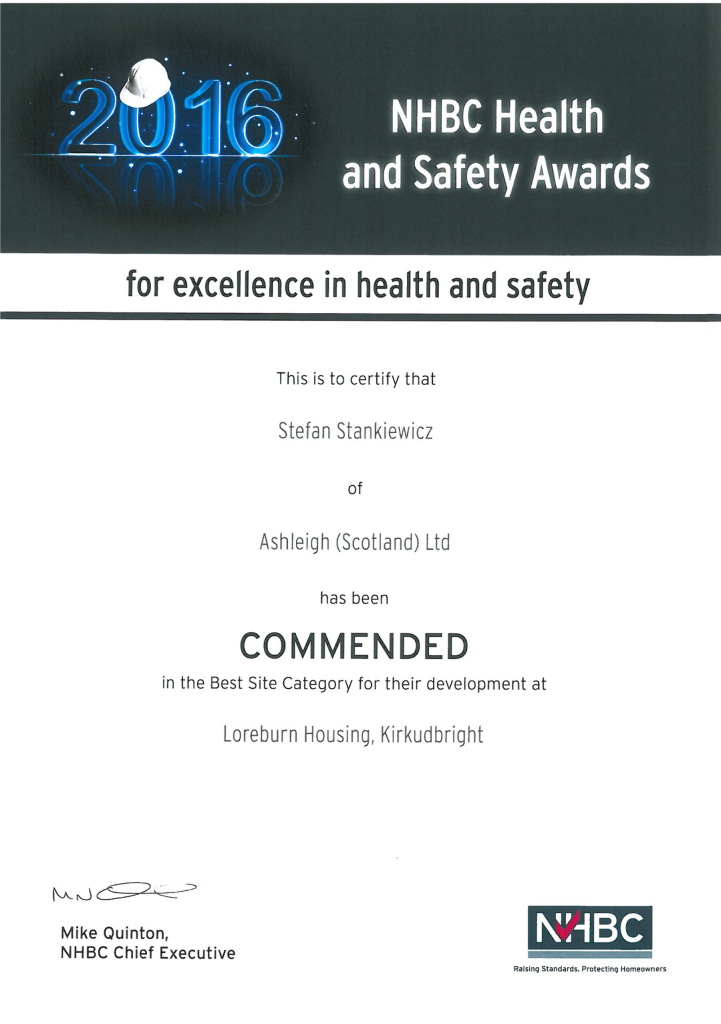 NHBC Health and Safety Award